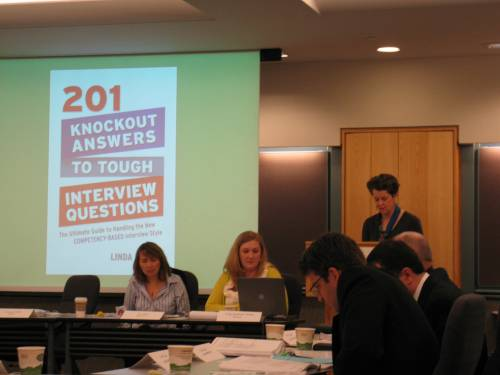 A timely title is introduced by Rosemary Carlough: 201 Knockout Answers to Tough Interview Questions.