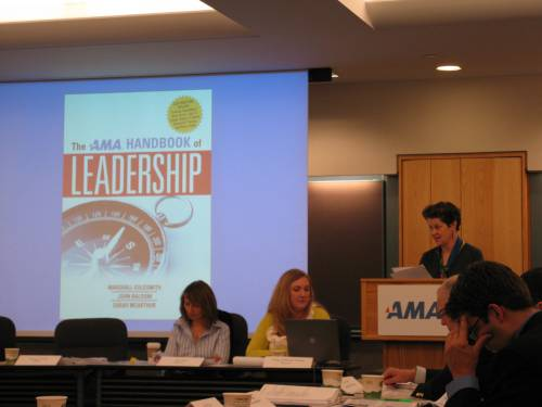 Rosemary introduces the AMA Handbook on Leadership--272 pages of what you need to know from the American Management Association.