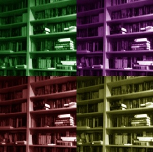 PhotoShop Andy Warhol Bookcase
