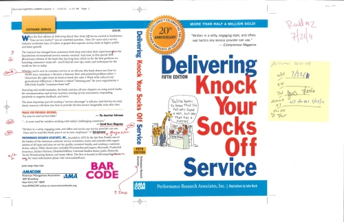 Marked-up Version of Delivering Knock Your Socks Off Service