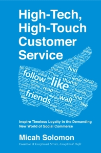 Submitted jacket design for High-Tech, High-Touch Customer Service