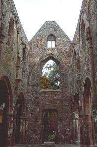 A stone archway of a church in Mainz, Germany, tourist photo