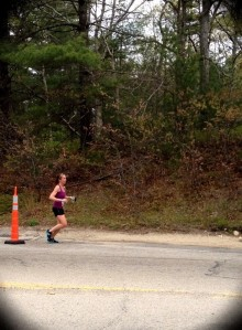 Photo of Jillian Murphy running the Ragnar Relay