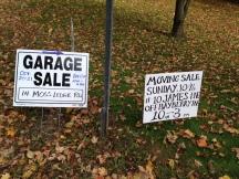 Photo, Yard Sale Signs