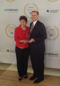 Photo of Nancy Roberson, President and Publisher of AMACOM and Chris Surdak, author of Data Crush